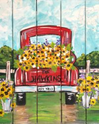 How to paint little Sunflowers