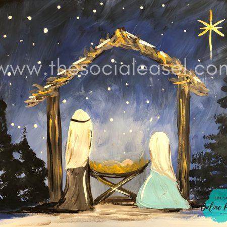 Nighttime Nativity Scene