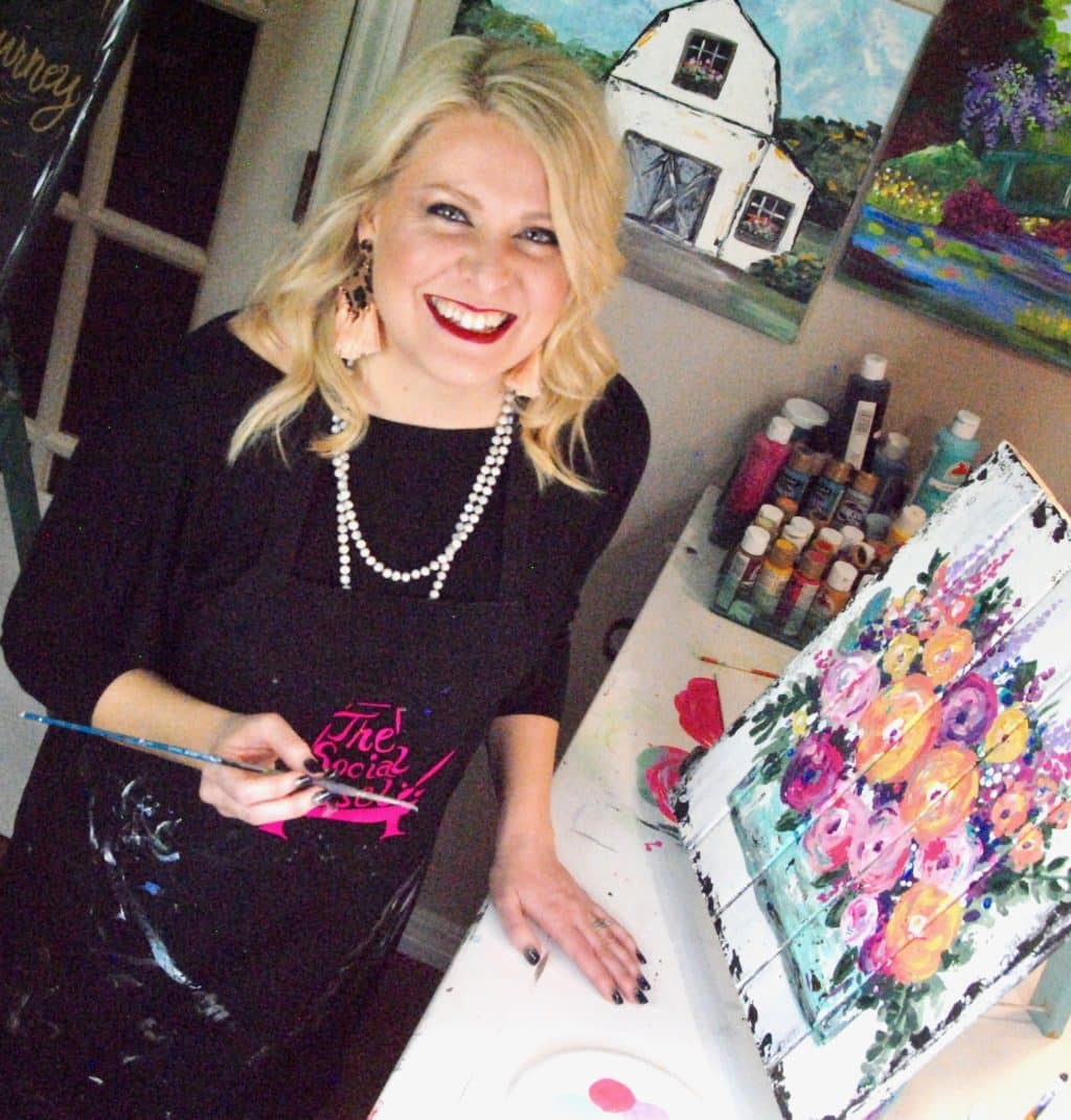 Learn How to Paint The Social Easel Online Paint Studio Christie Hawkins
