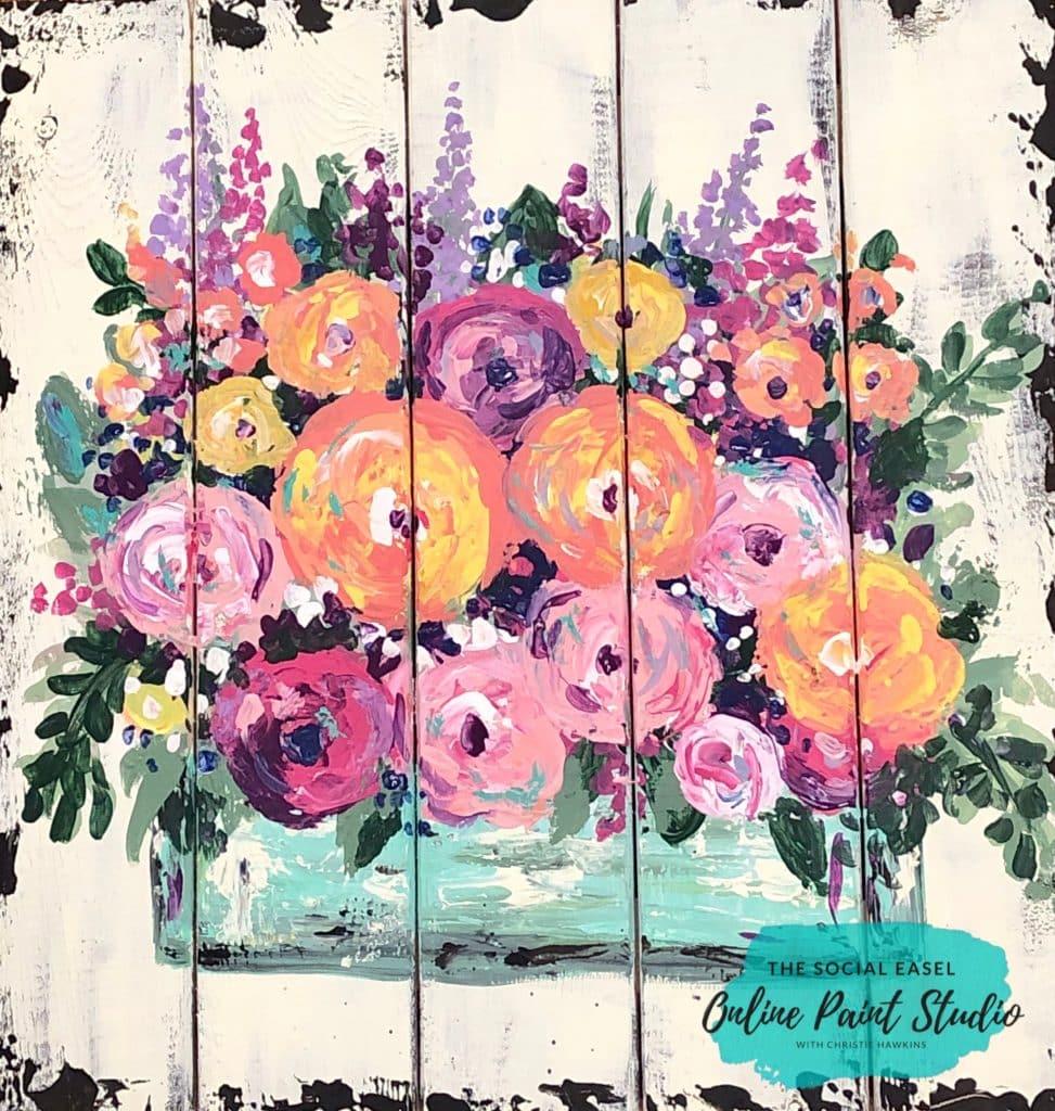 Flower Painting Tutorial Painting Palette Knife Flowers