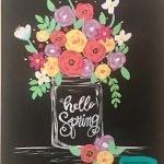 Spring Flowers in Mason Jar