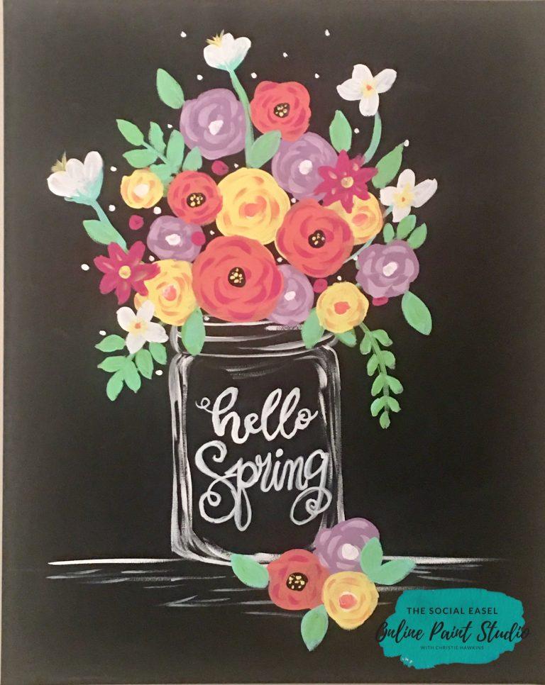 Flower painting tutorial