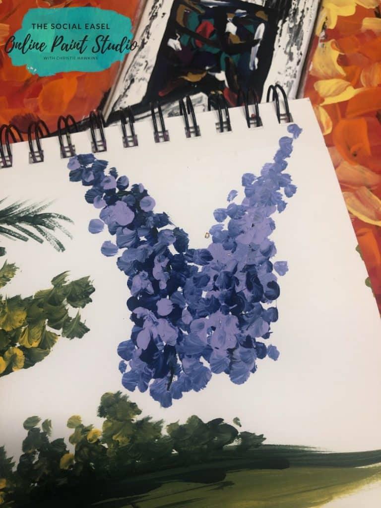 Round Brush Painting Lavender