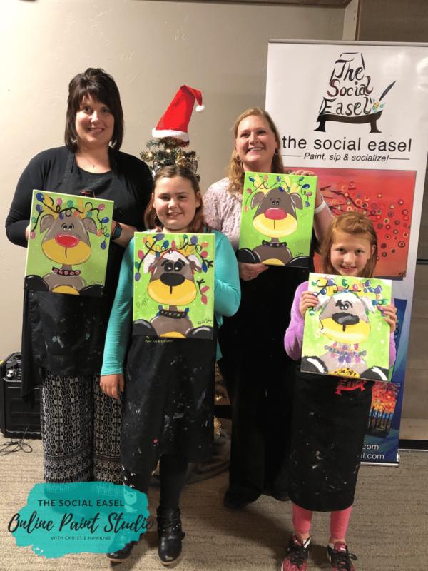 The Social Easel Online Painnt Studio Kids Holiday Reidneer