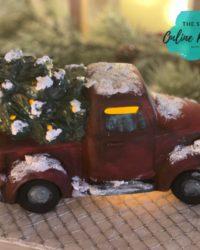 Fun Painting Ceramic Christmas Trucks!