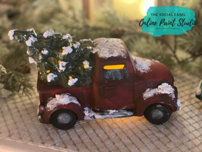 DIY Ceramic Christmas Trucks