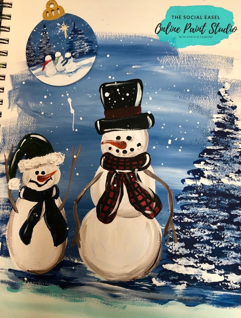 learn how to paint a snowman