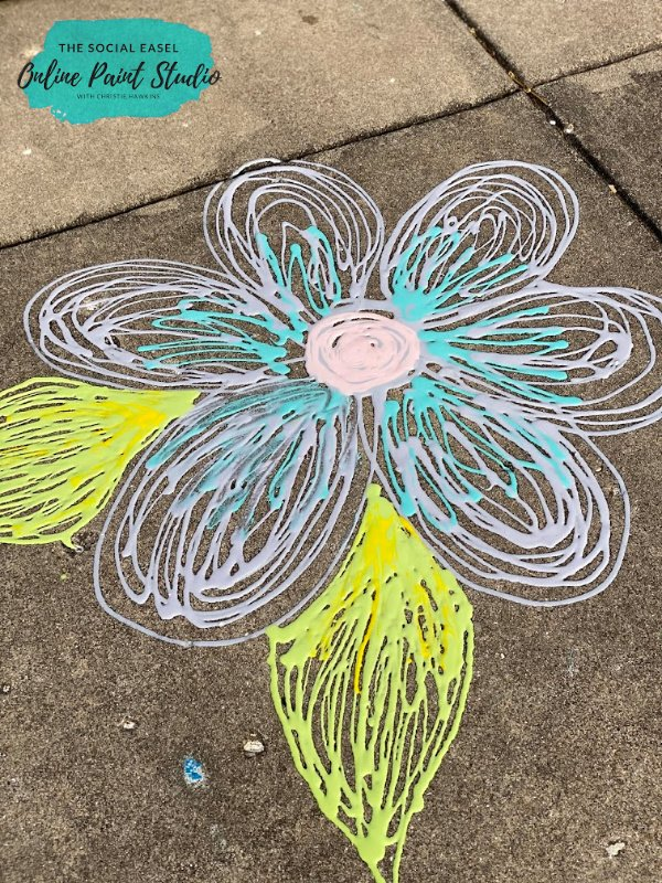 How to make Puffy Sidewalk Paint flower The Social Easel