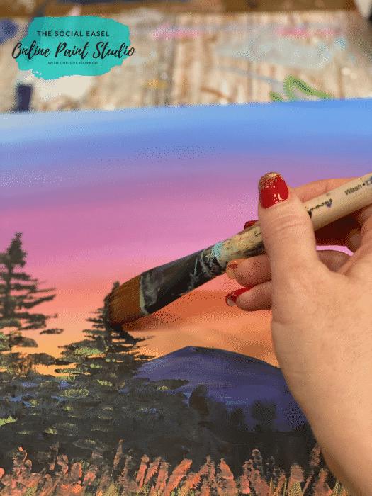 Basics in Blending Acrylic Paint For Beginners The Social Easel Online Paint Studio