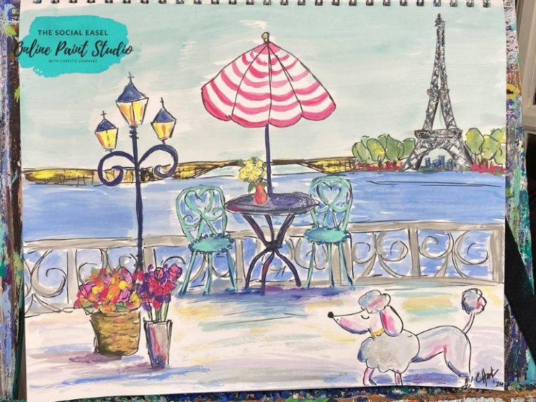 Painting Inspiration The Social Easel Online Paint Studio Paris Painted Sketch