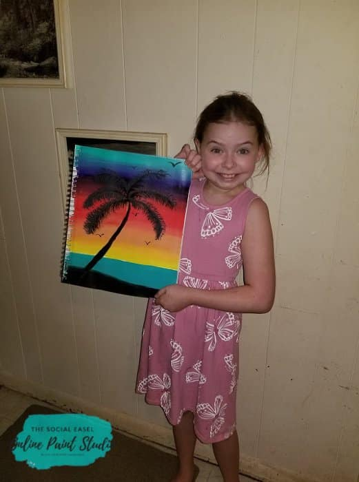 Painting with Kids Tropical Sunset The Social Easel Online Paint Studio