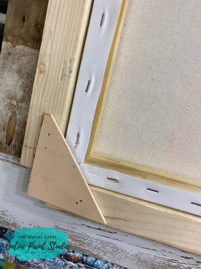 Corner DIY Rustic Wood Frames For Canvas The Social Easel Online Paint Studio