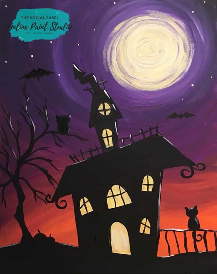 Haunted house the social easel