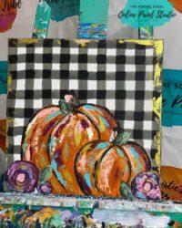 Buffalo Plaid Rustic Pumpkins
