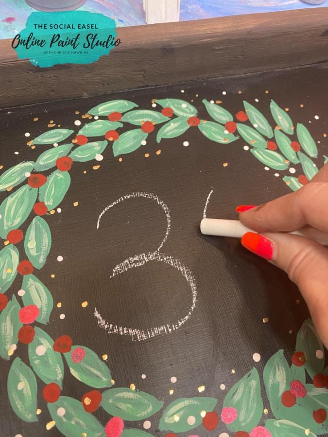 Christmas Countdown The Social Easel Online Paint Studio