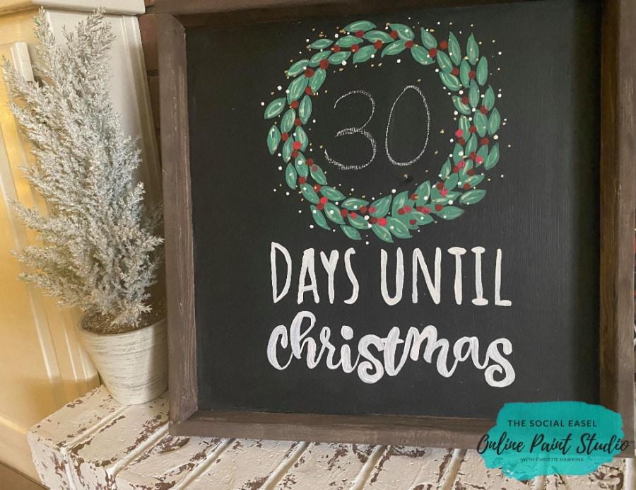 DIY Farmhouse Christmas Countdown The Social Easel Online Paint Studio 30days