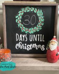 DIY Farmhouse Christmas Countdown