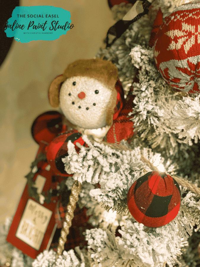 Buffalo Plaid Christmas Tree Tour The Social Easel Online Paint Studio
