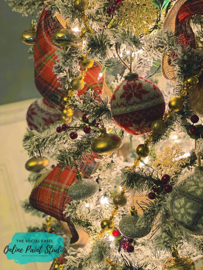 Ornaments Christmas Tree Tour The Social Easel Online Paint Studio