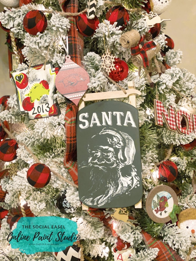 Santa Tree Christmas Tree Tour The Social Easel Online Paint Studio