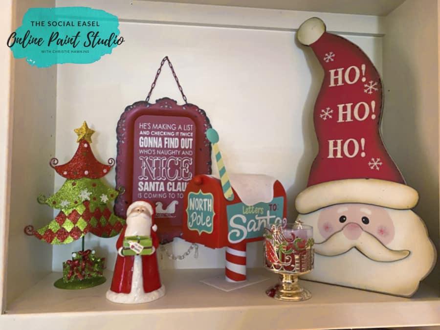 Shelf Decor Christmas Tree Tour The Social Easel Online Paint Studio