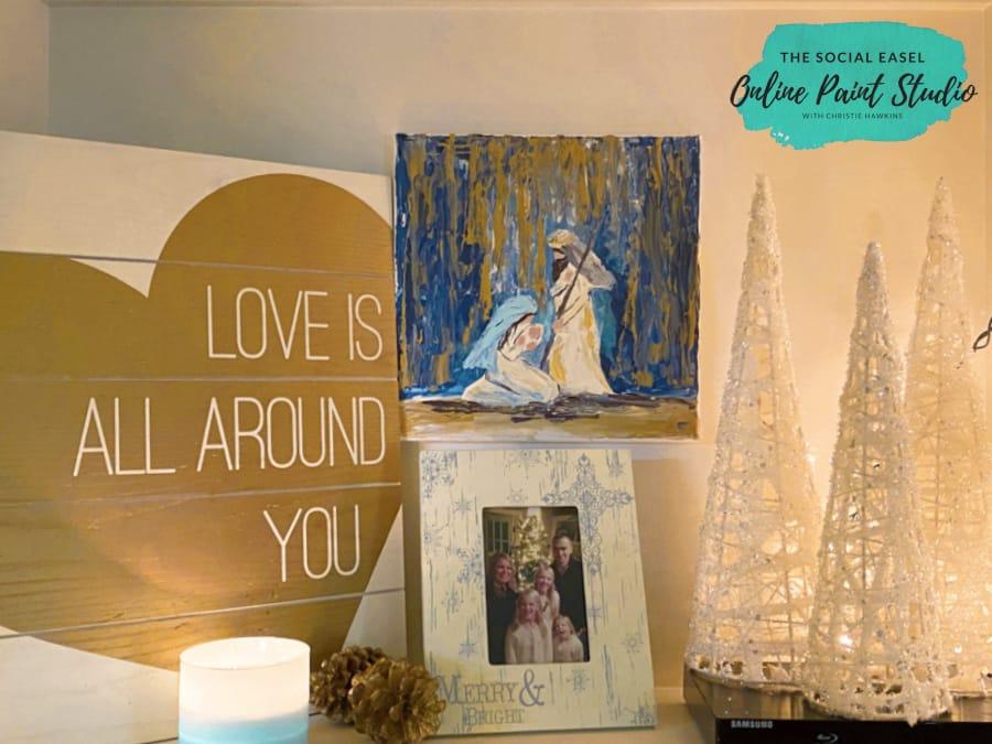Shelf Decor Room Christmas Tree Tour The Social Easel Online Paint Studio