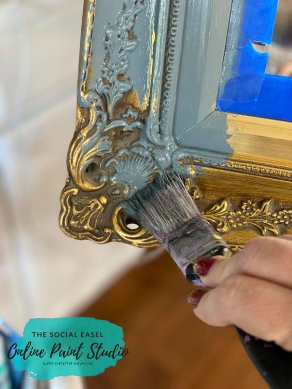 Base Coat Ornate Mirror Makeover The Social Easel Online Paint Studio
