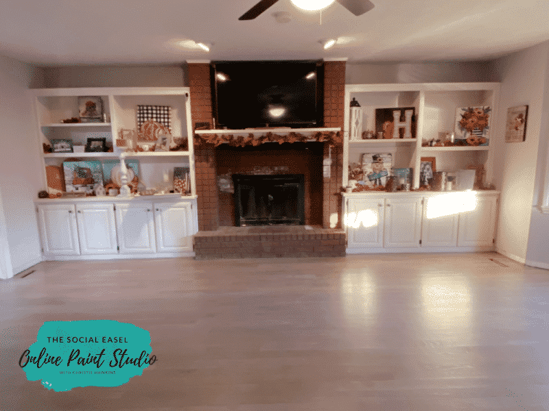 Before the Faux German Smear Brick Fireplace Makeover The Social Easel Online Paint Studio
