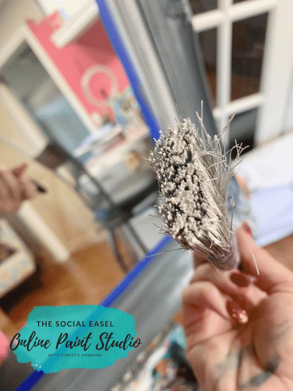 Dry Brush Ornate Mirror Makeover The Social Easel Online Paint Studio