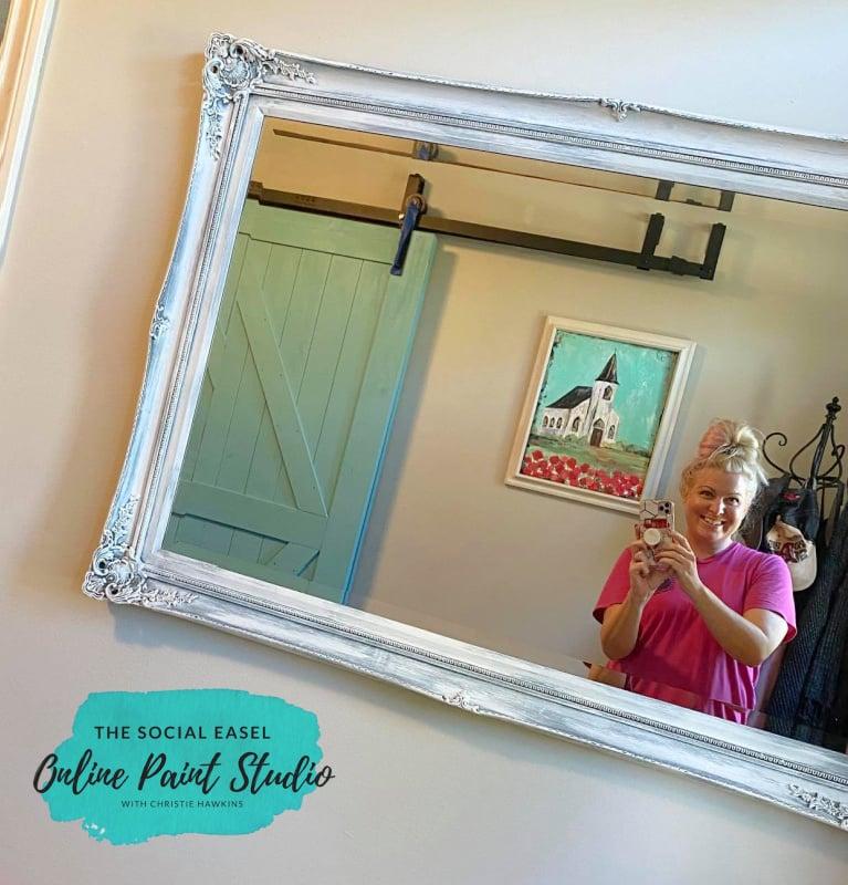 Spring Chapel Ornate Mirror Makeover The Social Easel Online Paint Studio