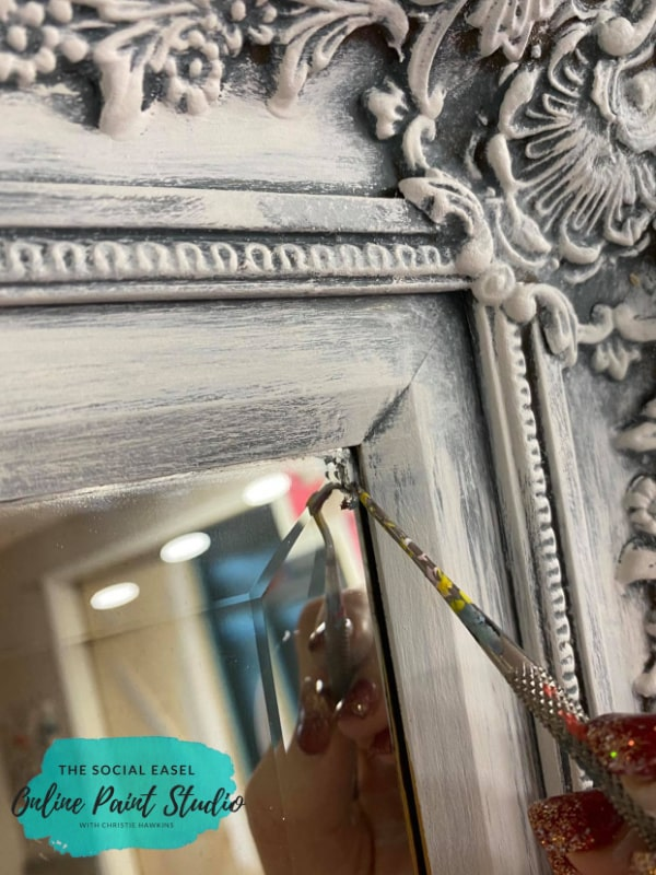 clean mirror Ornate Mirror Makeover The Social Easel Online Paint Studio