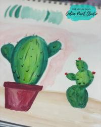 Simple Watercolor Cactus