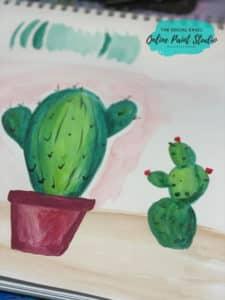 Cute Watercolor Cacti The Social Easel