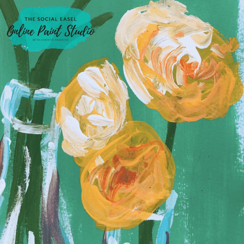 Flowers in Milk Bottles Yellow Blooms How to Create Original Art