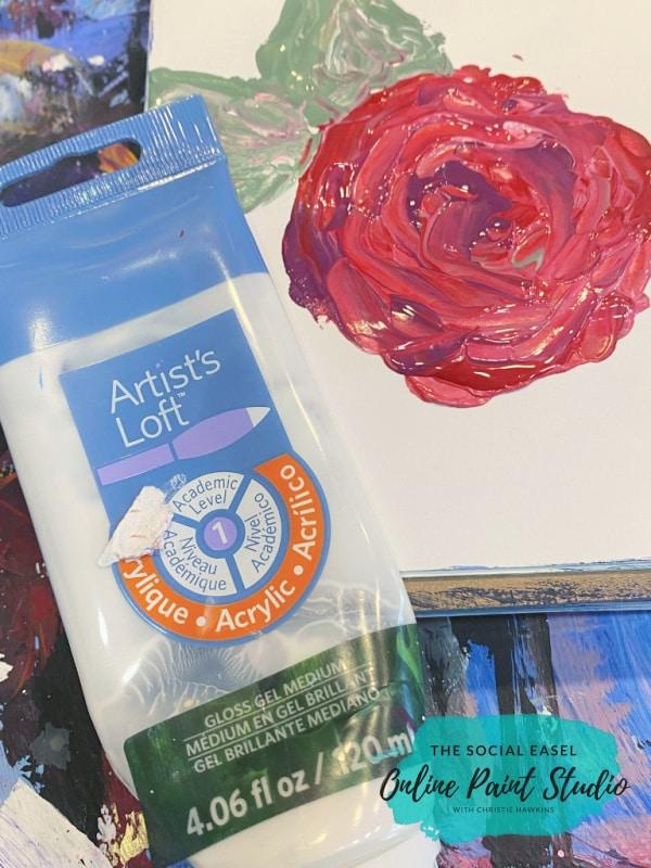 Gel Medium How to Paint Roses the Social Easel Online Paint Studio