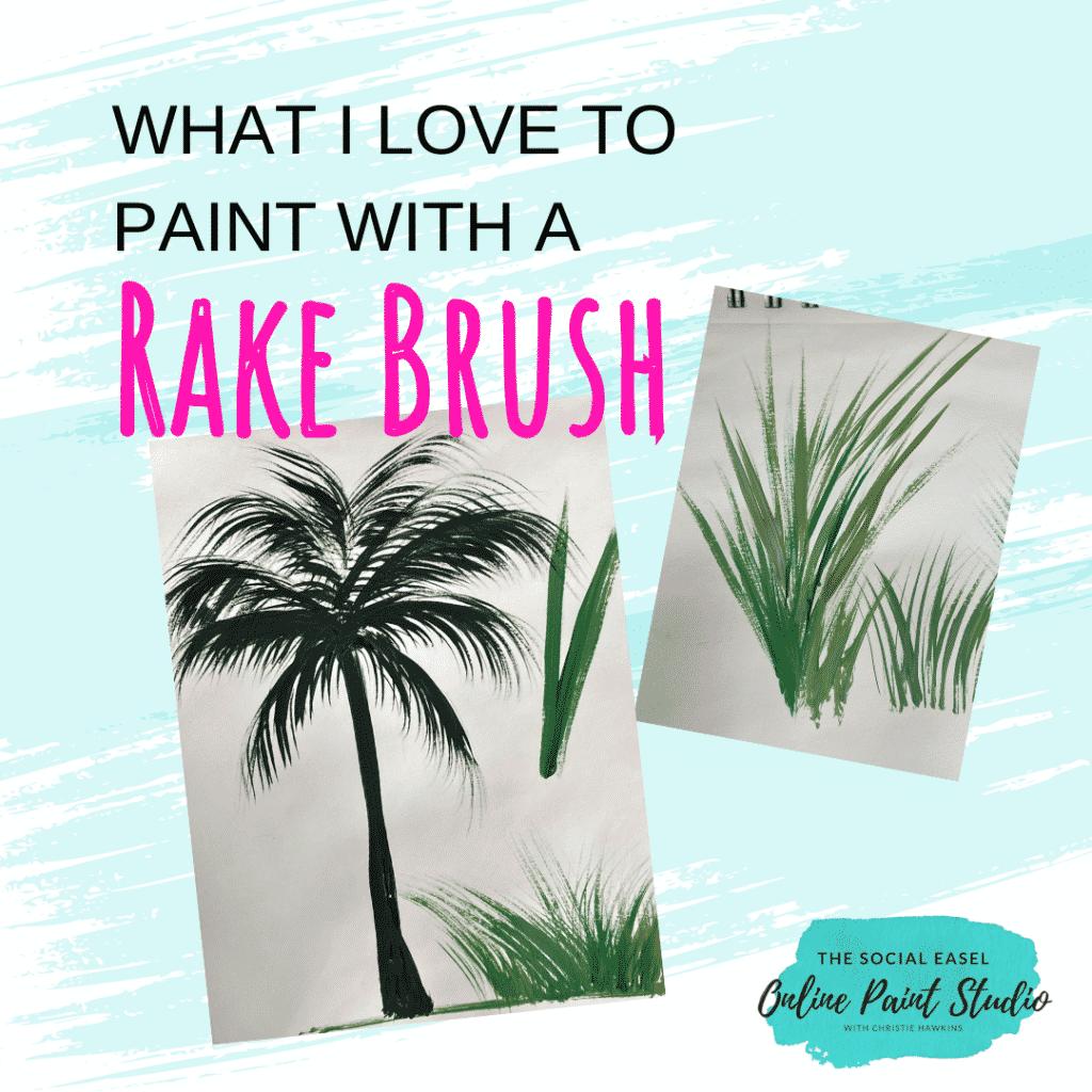 Rake Brush The Social Easel Online Paint Studio (1)