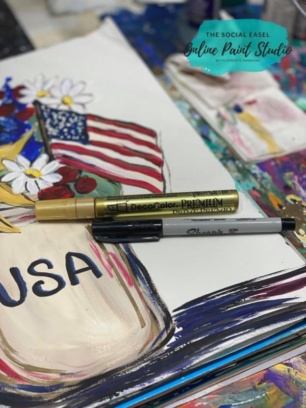 Supplies Americana Mason Jar Painting Tutorial The Social Easel