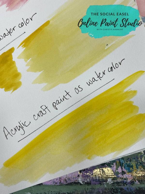 Acrylic Paint as Watercolor The Social Easel Online Paint Studio (1)