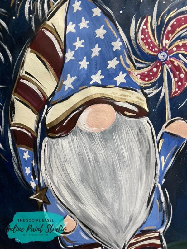 Adorable Patriotic Gnome The Social Easel