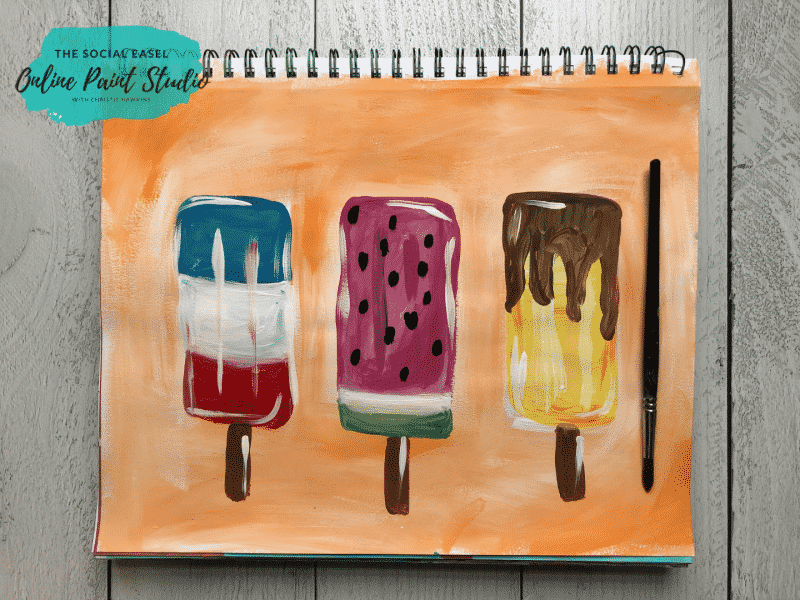 Kids Popsicle Painting Tutorial The Social Easel