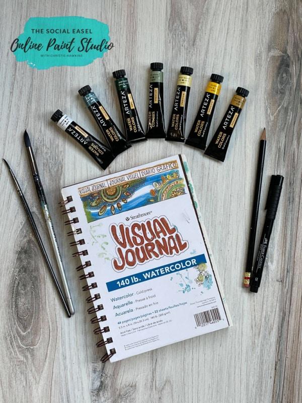Supplies DIY Watercolor Lemons in a Jar The Social Easel Online Paint Studio