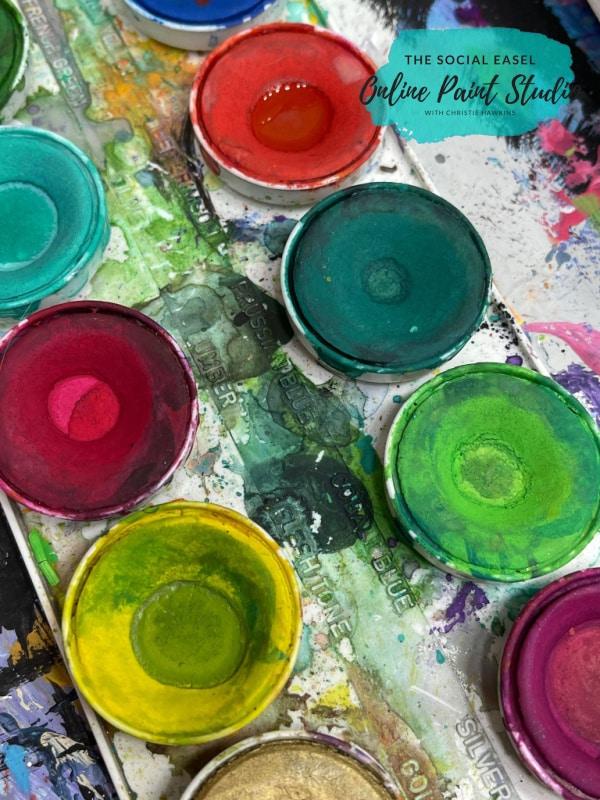 cake watercolors Watercolor Lemons in a Jar The Social Easel Online Paint Studio