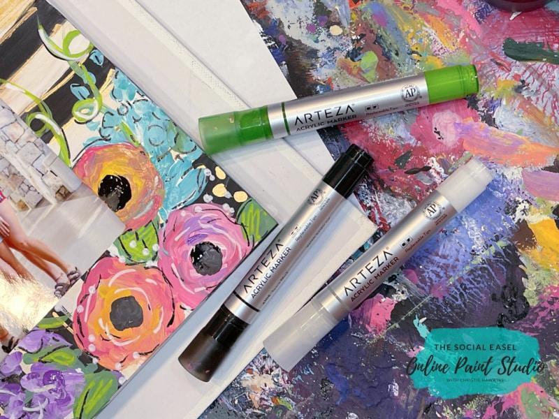 Arteza Acrylic Paint Marker The Social Easel