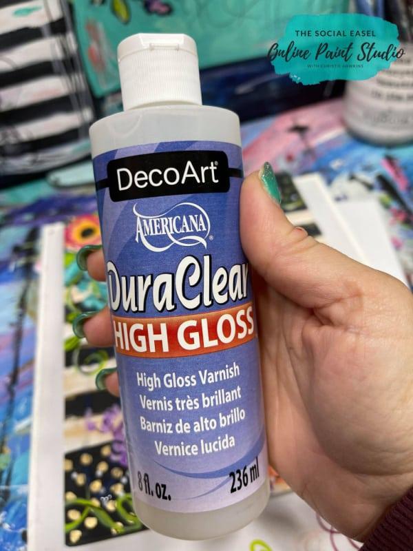 DecorArt Dura Clear High Gloss Varnish The Social Easel Online Paint Studio