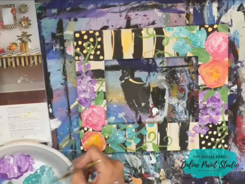 Painting a Picture Frame with Acrylic Paint The Social Easel