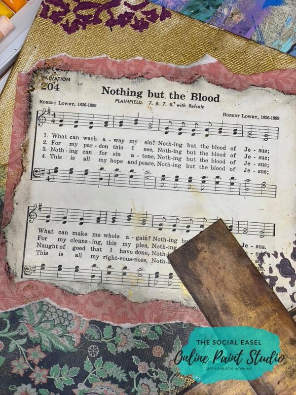 Sheet Music Mixed Media Art for Beginners The Social Easel (1)