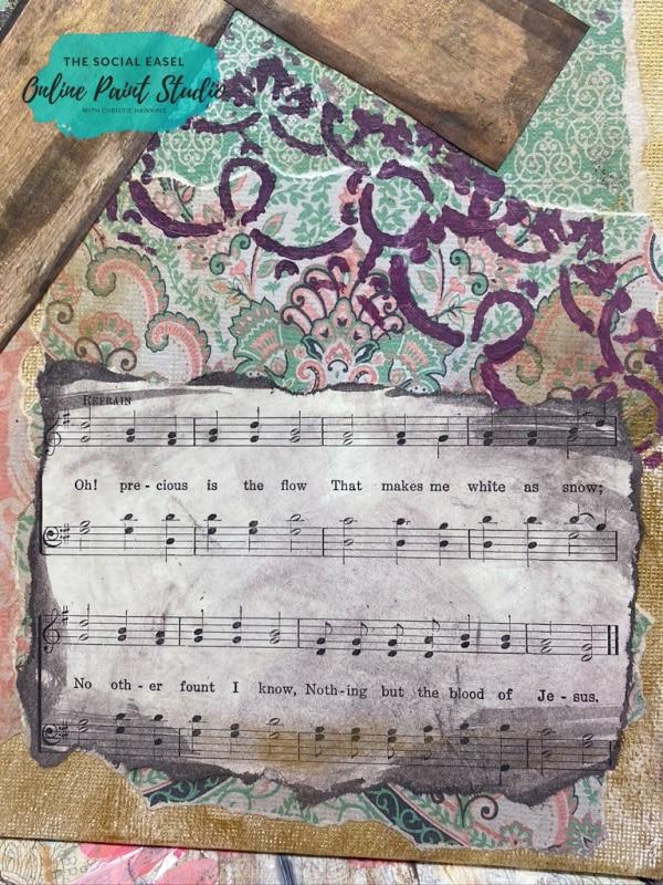 Sheet Music Mixed Media Art for Beginners The Social Easel