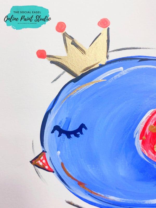 Miss American Birdie - DIY Whimsical Bird Painting The Social Easel